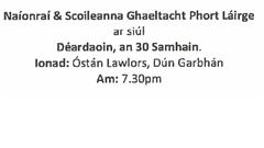 Cruinniú Poiblí: Polasaí Gaeltachta